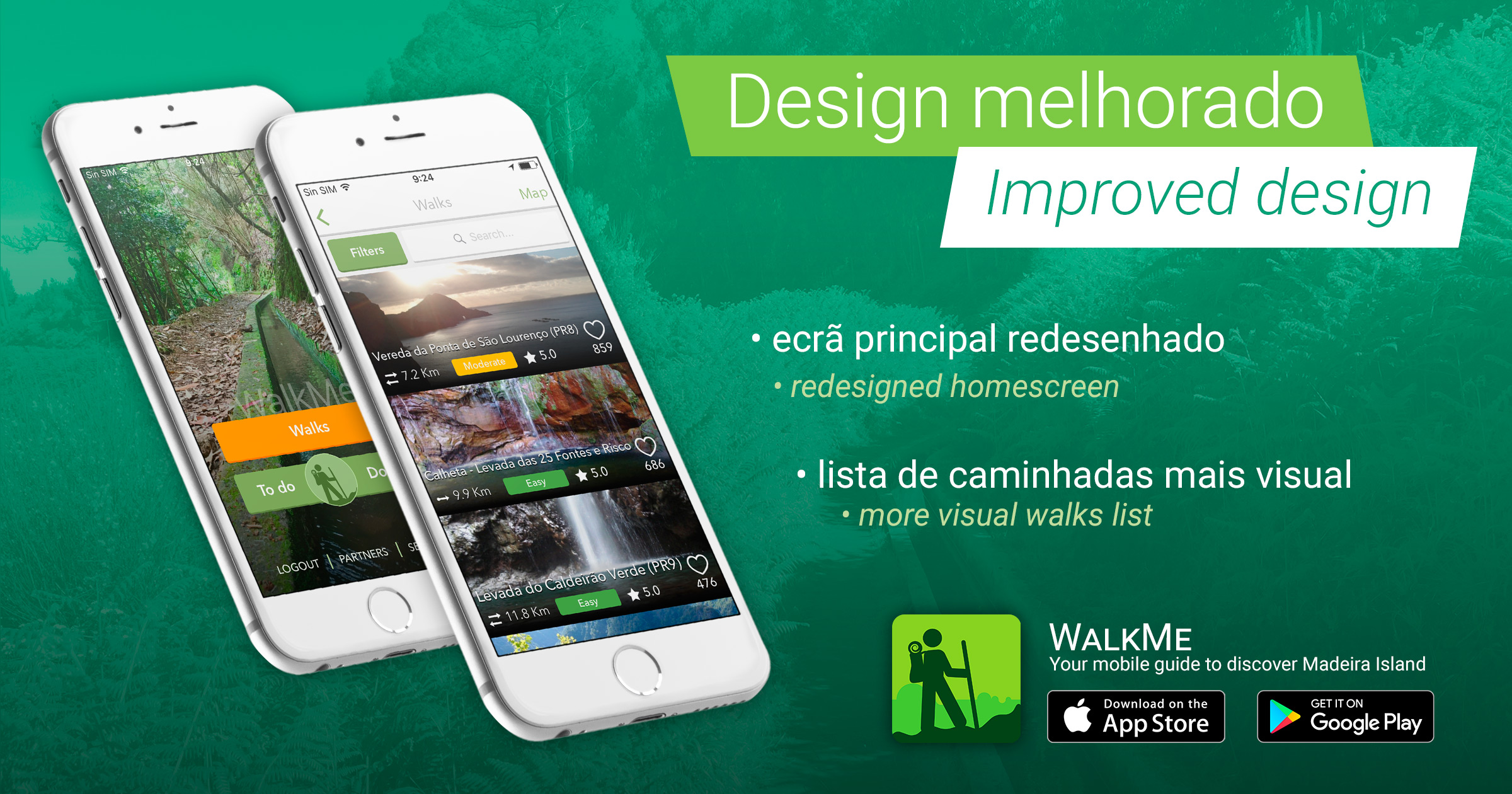 App walkme nueva versi n con muchas novedades walkme for Who can design an app for me
