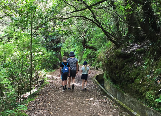 Levada walking with kids